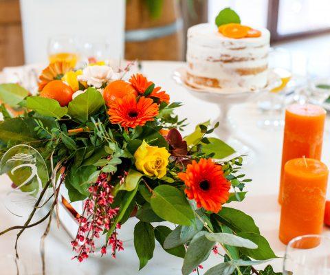 Mandarynkowy #weddingtable